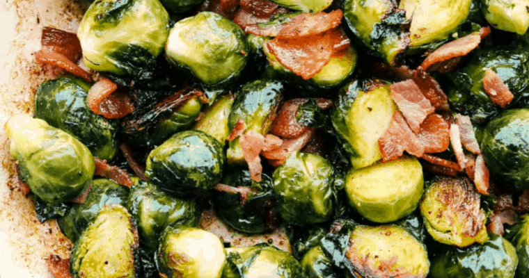 Perfect Sautéed Brussel Sprouts With Bacon