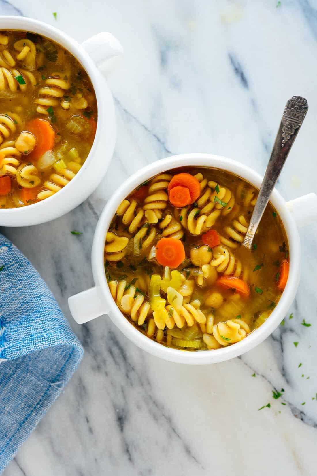 Chickpea Noodle Soup | Cook & Hook
